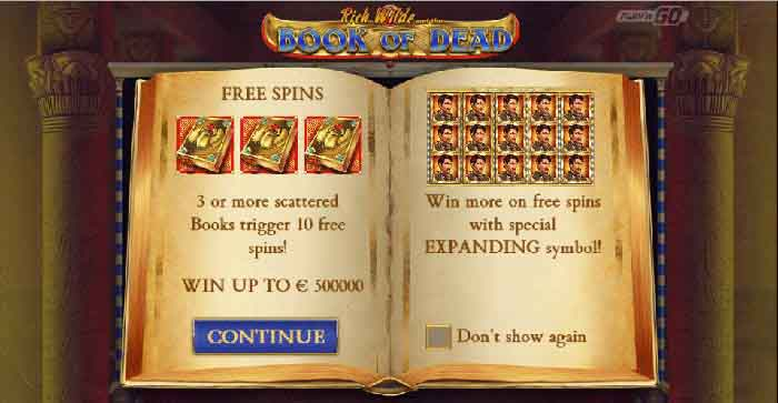 Der Book of Dead Slot von Play´N Go
