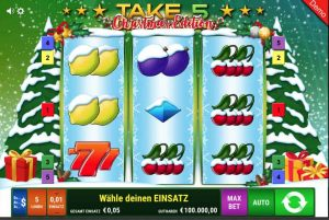 Gameomat take 5 christmas edition