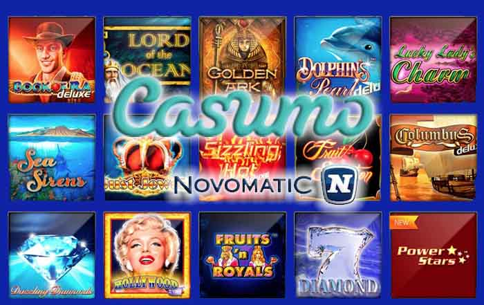 Novomatic Games im Casumo Casino