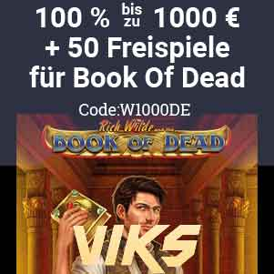 willkomensbonus im viks casinobook of dead