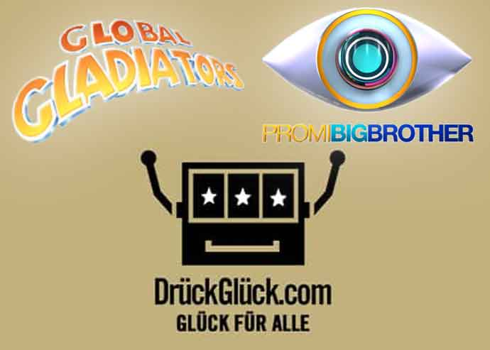 DrückGlück sponsert Promi Big Brother und Global Gladiators