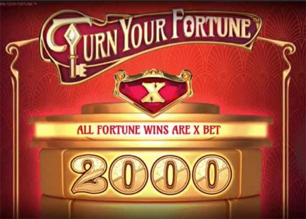 Der Turn Your Fortune Slot mit einem interessanten, neuen Design